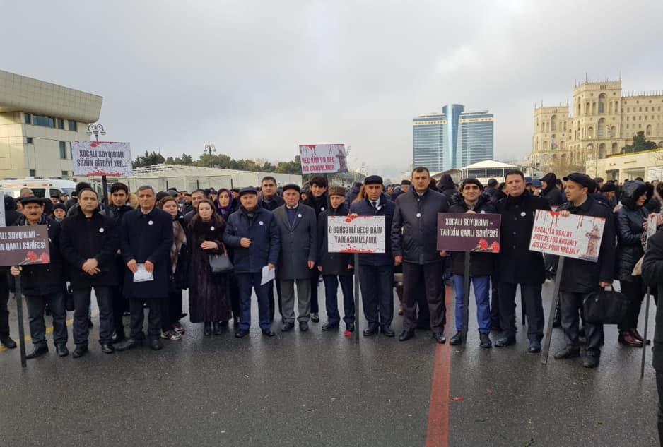 Employees of the Academy of Sciences took part in Khojaly genocide anniversary march
