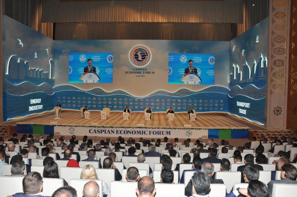 Akademik Telman Əliyev Birinci Xəzər İqtisadi Forumunda iştirak edib
